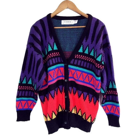 Vintage 90's Western Connection Cardigan Sweater